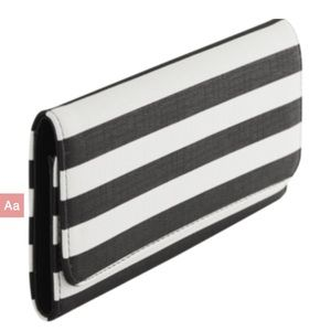 Kut from the Kloth black and white striped wallet